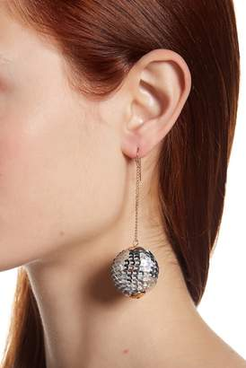 Shashi Naomi Sequins Ball Chain Drop Earrings