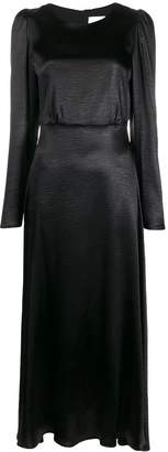 Black Coral Camila hammered satin dress