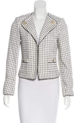 Magaschoni Long Sleeve Tweed Jacket