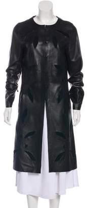 Karl Donoghue Leather Long Coat