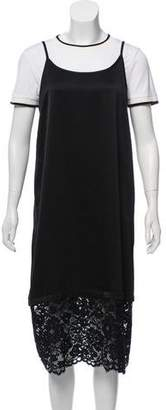 DKNY Lace-Accented Midi Dress w/ Tags