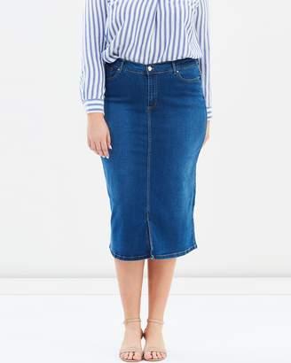 Evans Denim A-Line Hem Skirt