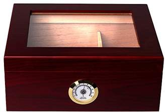 Mantello 25-50 Cigar Desktop Humidor Royale Glasstop