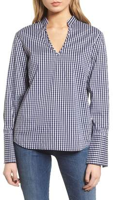 Trouve Gingham Open Back Top
