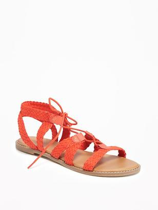 Braided Lace-Up Sandals for Women $29.94 thestylecure.com