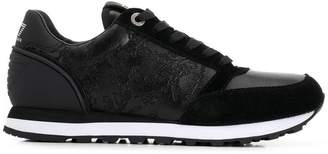 Emporio Armani Ea7 floral panelled sneakers