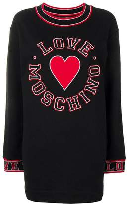 Love Moschino heart patch sweater dress