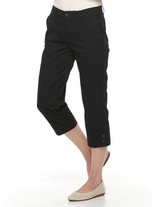 Croft & Barrow Petite Essential Twill Capri Pants