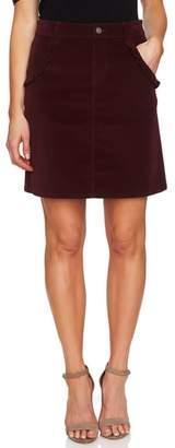 CeCe Ruffled Corduroy Skirt