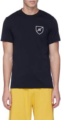 Reigning Champ 'Shield' logo print mesh panel performance T-shirt