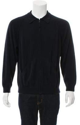 Loro Piana Cashmere Zip-Front Sweater