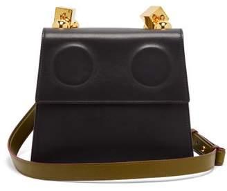 Marni Marionette Leather Cross Body Bag - Womens - Black Green