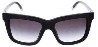 Giorgio Armani Garçonne Velvet-Trimmed Sunglasses