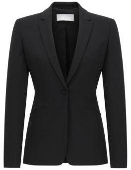Hugo Boss Jabina Wool Blazer 10 Black $595 thestylecure.com