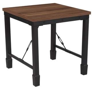 Flash Furniture Brentwood Collection Side Table with Industrial Style Steel Legs