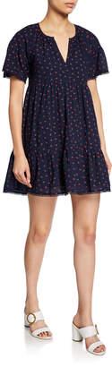 d.RA Gianna Cherry-Print Ruffle Dress