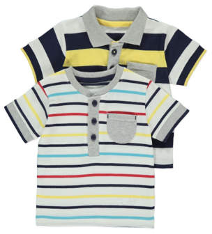 George Striped Tops 2 Pack
