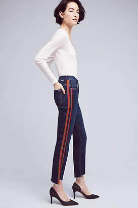 Mother The Insider Crop Step Fray High-Rise High-Low Jeans