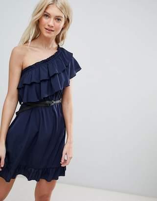 Vero Moda One Shoulder Ruffle Dress