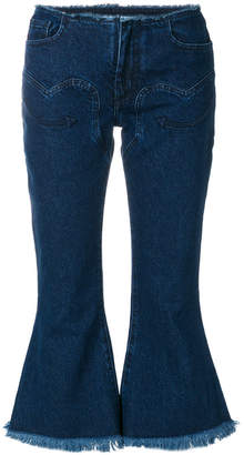 Marques Almeida Marques'almeida raw edge flared jeans