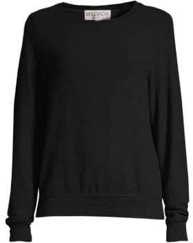 Wildfox Couture Women's Basic Crewneck Sweatshirt - Jet Black - Size XS