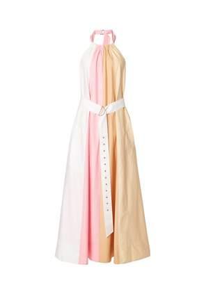 Tibi Color Block Long Trapeze Dress