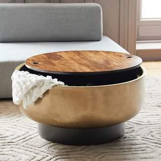 west elm Drum Storage Coffee Table
