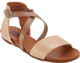 Miz Mooz Leather Cross Strap Sandals -Amanda