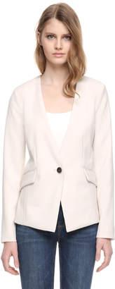 Soia & Kyo IMMA collarless slim fit blazer