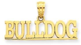 Black Bow Jewelry Company 14k Yellow Gold Bulldog Script Polished Pendant