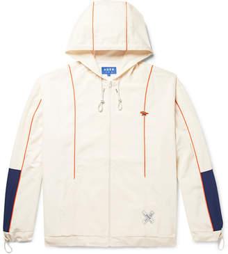 MAISON KITSUNÉ + Ader Error Oversized Colour-Block Shell Hooded Jacket