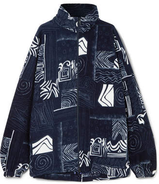 Balenciaga Oversized Fleece Jacket - Navy