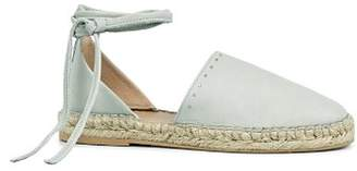 AllSaints Women's Leather Ankle Tie Espadrille Flats