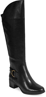 Anne Klein Jamee Leather Tall Riding Boots