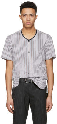 Lanvin Multicolor Striped Ribbon Shirt