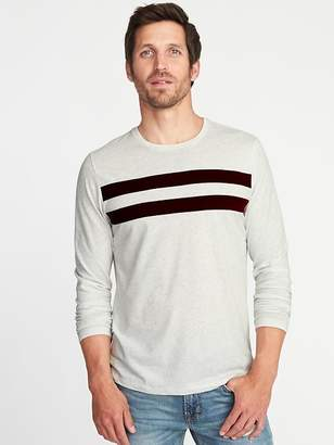 Old Navy Pieced Chest-Stripe Crew-Neck Tee for Men
