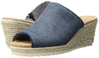 SKECHERS - Monarchs - Denim Power Women's Shoes $55 thestylecure.com