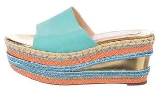 Christian Louboutin Metallic Platform Slide Sandals