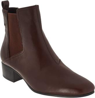 Halston H By H by Gored Leather Ankle Boots - Alison