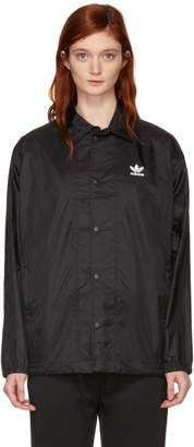 adidas Black Trefoil Coach Jacket