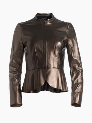 St. John Pearlized Nappa Jacket