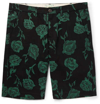Aries Printed Cotton-Twill Shorts