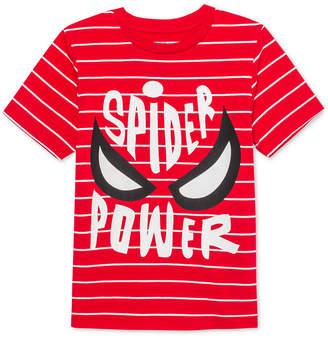 44b95beca6 Marvel Little Boys Spider-Man Spider Power Stripe T-Shirt