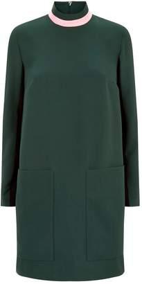 Burberry High-Neck Shift Dress