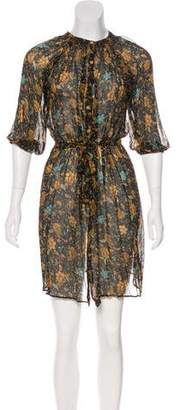 Tucker Silk Floral Dress