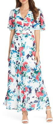 Adelyn Rae Somers Button Front Maxi Dress