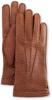 Peccary Hand-Sewn Leather Cashmere-Lined Gloves