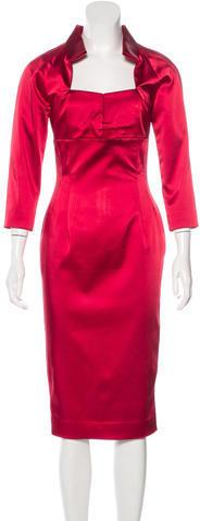 Vivienne WestwoodVivienne Westwood Red Label Satin Sheath Dress