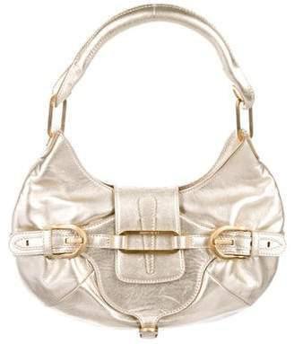Jimmy Choo Metallic Leather Tulita Hobo