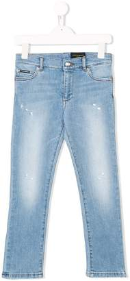 Dolce & Gabbana washed distressed jeans